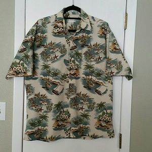 Men's Hawaiian shirt Pierre Cardin sz L